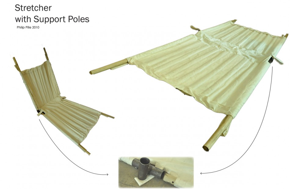 stretcher support poles